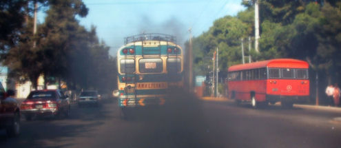 pollution causes, bus, car