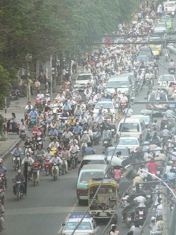 air pollution effects, ho chi minh traffic