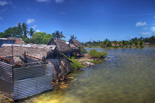global warming effects, kiribati flooded