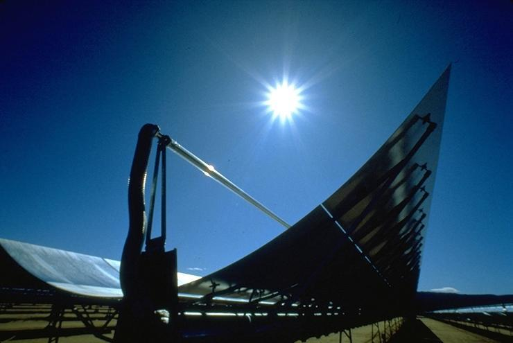 parabolic trough solar electricity