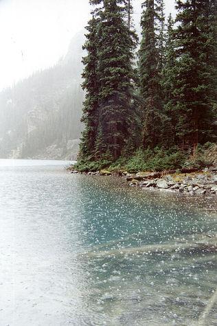 pollution effects, rain, lake