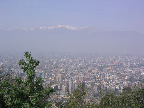 air pollution effects, santiago smog