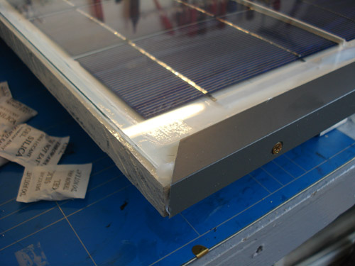 solar panel covered