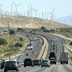 wind mills, car pollution